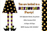Personalised Witches Legs Halloween Invitation